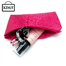 Women Portable Cute Multifunction Beauty Zipper Travel Cosmetic Bag Letter Makeup Case Pouch Toiletry Organizer Holder(China (Mainland))