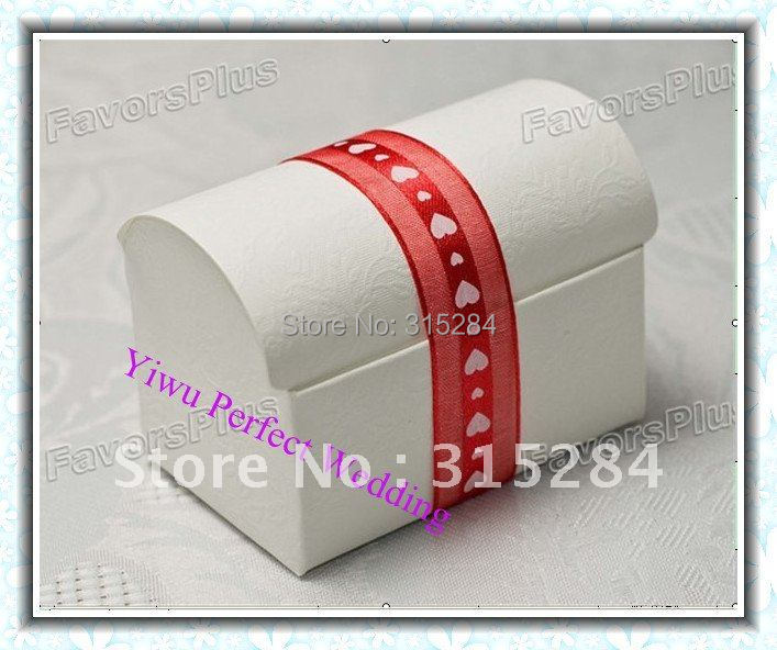 FREE SHIPPING--Wedding White Treasure Chest Boxes (XY-411AB)(China (Mainland))