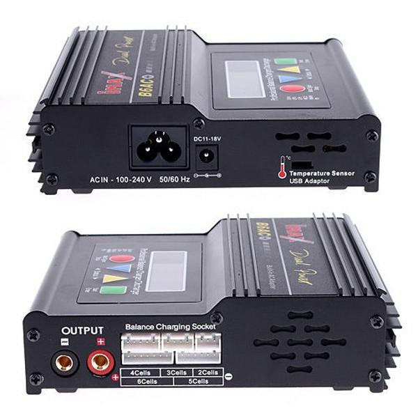 Battery Charger Imax B6AC + B6AC+ LiPo/Li-Ion/LiFe/NiMH/Nicad/PB RC Balance Charger New with 2 kinds of cable(China (Mainland))