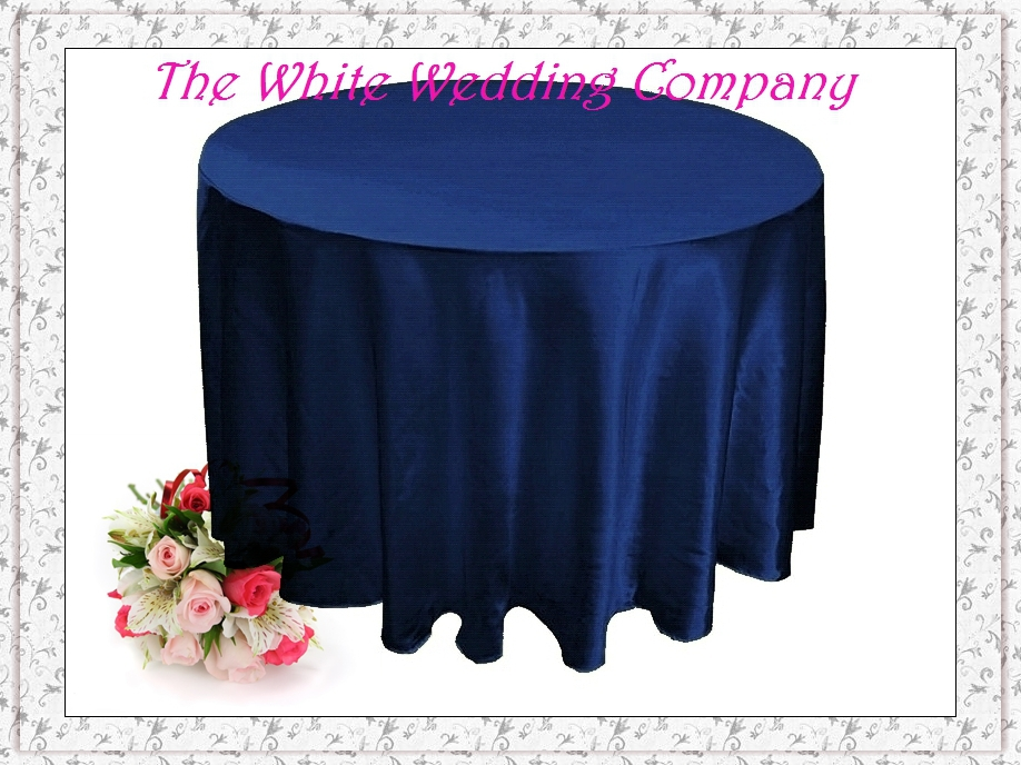 15pcs 120'' Round Satin NAVY BLUE Tablecloths for Weddings Table Cover Table Cloth Round Tablecloths Wedding Table Linens(China (Mainland))