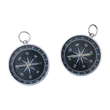 Buy 2pcs Aluminum Mini Compass Camping Navigation Keychain Silver Field Sports Director Guider Hiking Outdoor Accessories for $1.55 in AliExpress store
