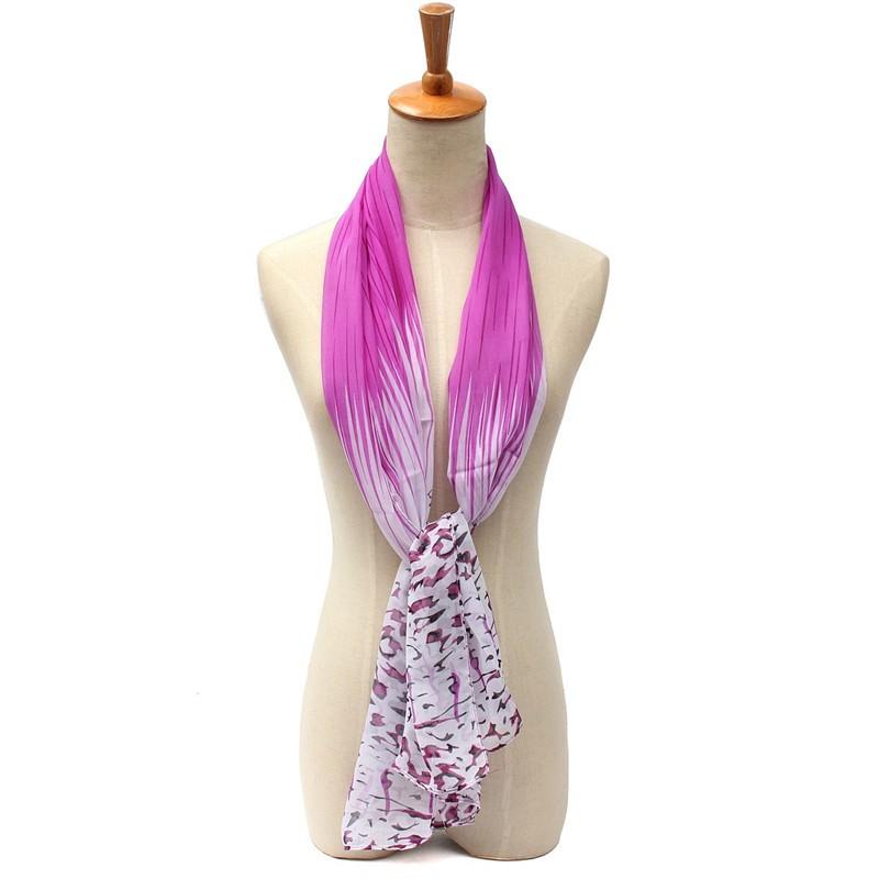 2016 New Fashion Women's Scarves Long Plain Silk Chiffon Leopard Stripe Neck Winter Scarf Warmer Shawl Accessories(China (Mainland))