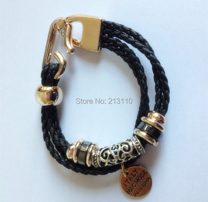 Bracelets for Women Rope Leather Charm Bracelets Bangles Men Jewelry Bijoux Circular Pulseira Feminina Pulsera Mujer