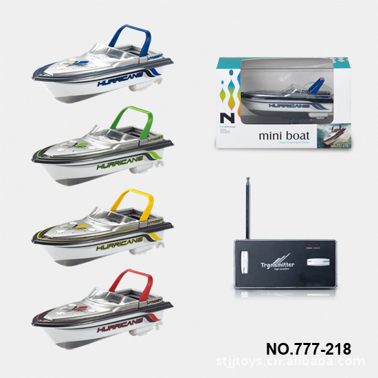 777-218 Remote Radio Control mini RC Boat Model, 4 Colors RC Micro Racing ship P2(China (Mainland))