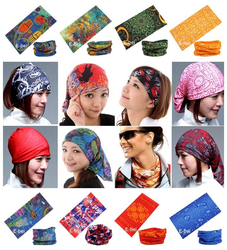 Wholesale/Retail Mixed Batch Multifunctional Headwear Neck Bandana Multi Scarf Tube Mask Cap Large Number of Style Free Shipping(China (Mainland))