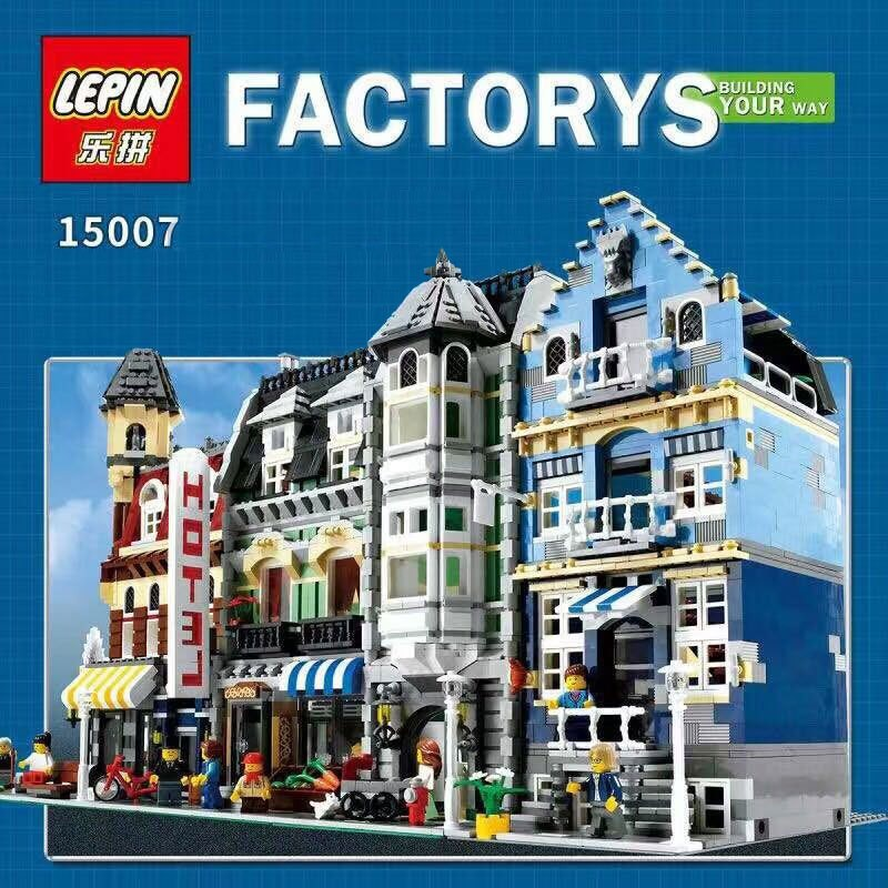1275Pcs Lepin 15007 Metropolis Road Creator Inexperienced Grocer Mannequin Constructing Kits Minifigure Blocks Bricks Suitable With Lego 10185