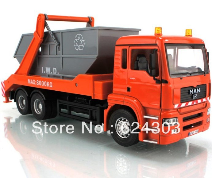 2013 newest ! 1:32 MAN Garbage dump truck Diecast Model the best kids toys(China (Mainland))