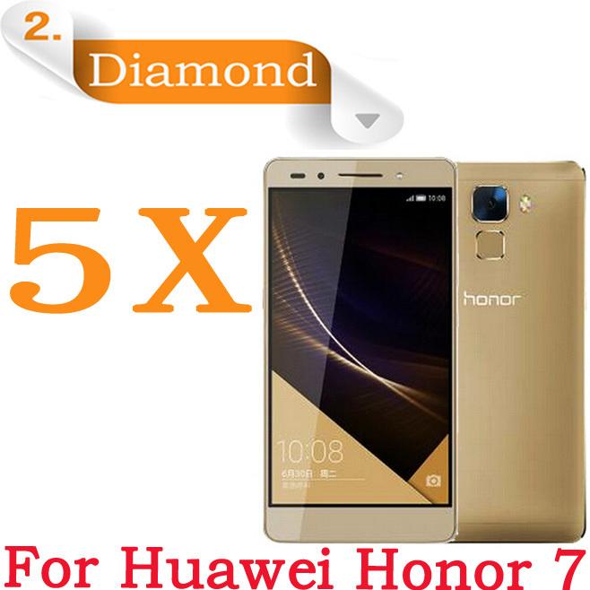 Huawei Honor 7 Diamond Screen Film,5pcs Premium Diamond Sparkling Protective Guard Cover Film Huawei Honor 7 Screen Protectors(China (Mainland))