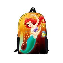 new 2014 arrival cartoon princess backpack school for baby boy girls cartoon school bag with 3d cartoon bag school designer bags(China (Mainland))