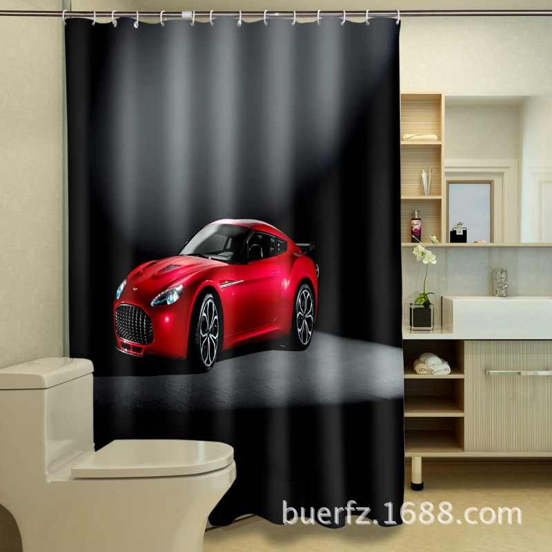 online kaufen gro handel duschvorhang autos aus china. Black Bedroom Furniture Sets. Home Design Ideas