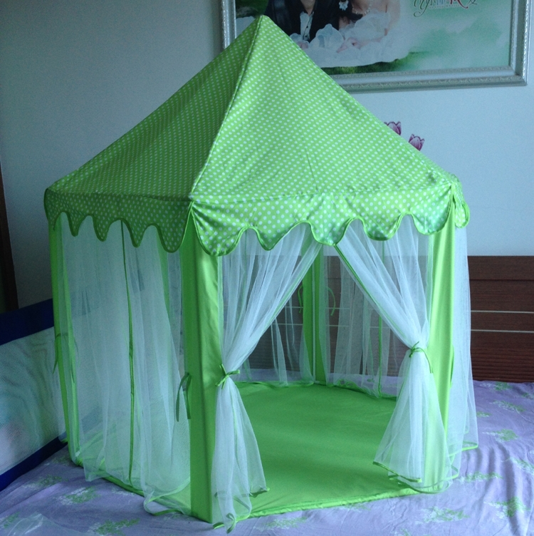 green hexagon kids play tent big children 39 s tent playhouse. Black Bedroom Furniture Sets. Home Design Ideas