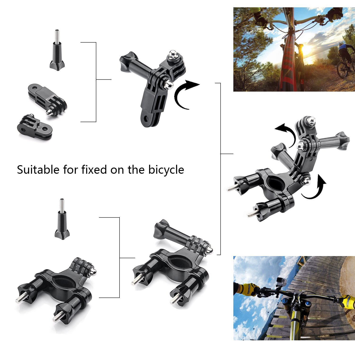 Gopro Accessories Set Helmet Harness Chest Belt Head Mount Strap Monopod For Go pro Hero 4 3+2 xiaomi yi action camera GS02