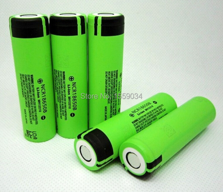 4pcs!! Original 18650 3400mah NCR18650B 3.7v rechargeable li-ion battery li ion cell 18650 bateria for panasonic 18650 3400mah(China (Mainland))