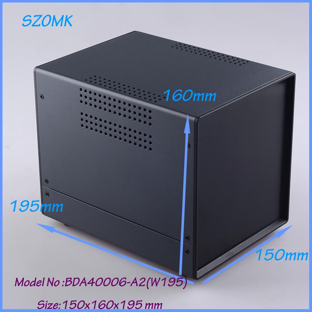 (1pcs)150x160x195mm electronic project box extrusion enclosure housing steel iron case - Enclosure-world Manufacture store