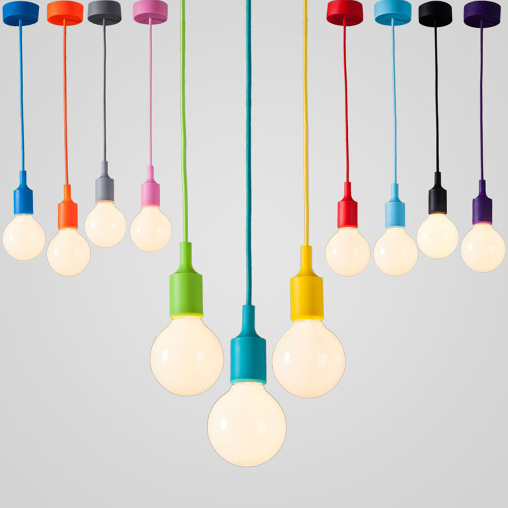 Colorful Lamp Holder Pendant Light Muuto Lamp E27 Color Silicone Lampholder A