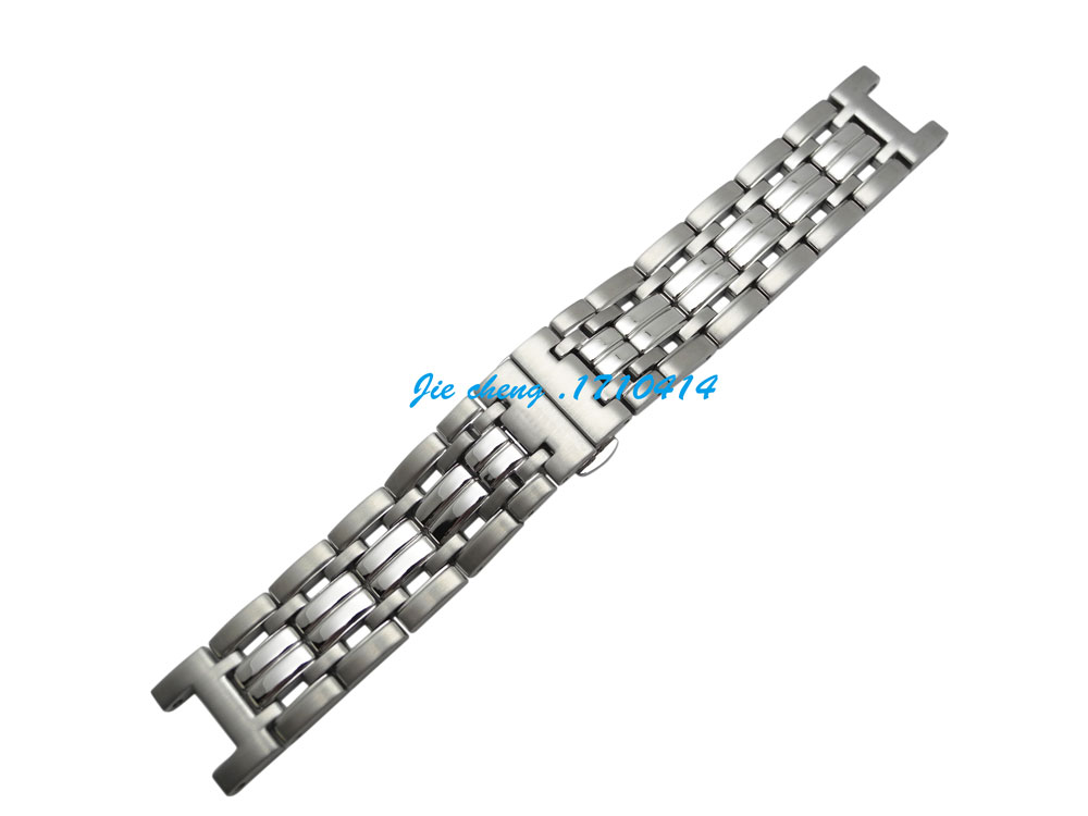 Free Shipping New 22mm men silver brushed polishing solid stainless steel bracelet watch band strap for Gc(China (Mainland))