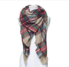 za major Winter 2015 Tartan Scarf Plaid Scarf cuadros New Designer Unisex Acrylic Basic Shawls Women's big size Scarves
