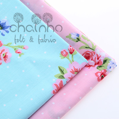 Cotton Fabric For Sewing Material  For handmade hometextile For Dress telas Shades of pink and blue Peony flowers shading40*50cm(China (Mainland))