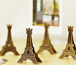 5 pcs/lot Effiel Tower Paris Metal Memo Paper Clips for Message Decoration Photo Office Supplies Accessories Free shipping 802(China (Mainland))
