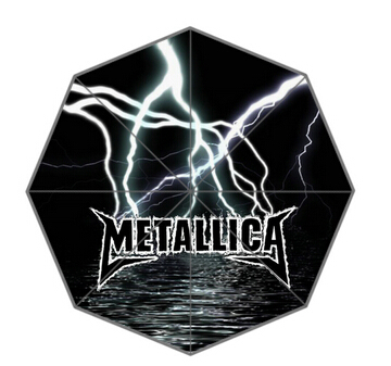 New Arrive metallica word with the light Cool Umbrellas Suprised Gift For lover friend(China (Mainland))