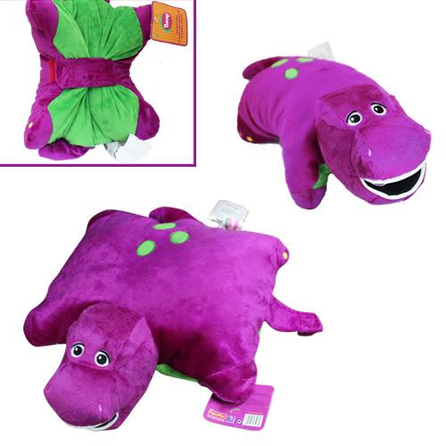 "FREE SHIPPING Anime Cartoon Cute ! Barney Dinosaur 16"" x 16"" Cushion Pillow Soft Plush Doll Toy(China (Mainland))"