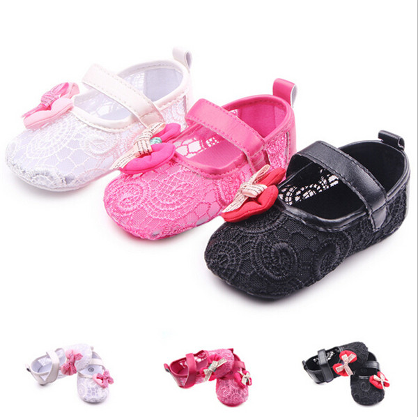 2016 New Fashion Bow Princess Baby Girls Shoes Infants Fretwork Summer Soft Sole Toddlers Bebe First Walkers - Mom, i can walk store