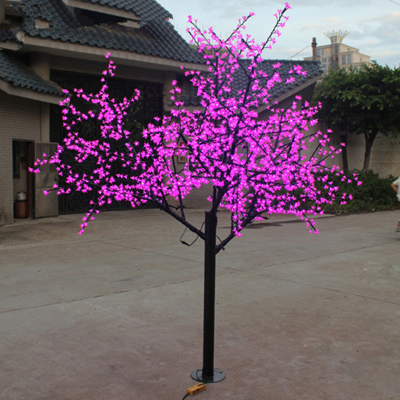 69W 2M 1152 leds outdoor christmas pink led cherry tree light(China (Mainland))