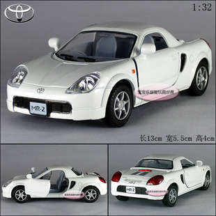 New 1:32 Toyota MR2 Alloy Diecast Model Car White B197a(China (Mainland))