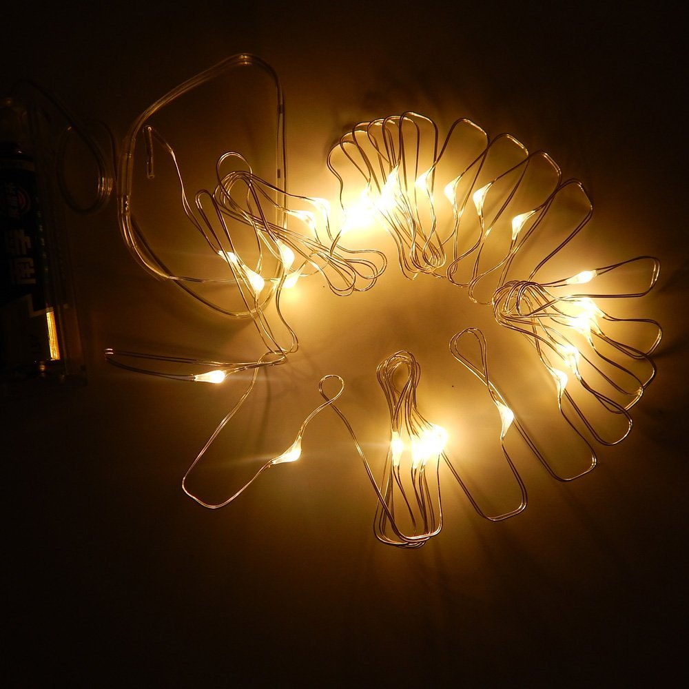 2m 20LEDS Copper Wire AA Battery Powered Starry Lights Fairy wire LED String- Decorative Light Strings - YIXIBANSTORE store