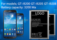 Free shipping  Mobile Phone Batteries  GT- i9200 GT- i9205 GT- i9208 3200 mAh  New and original mobile phone batteries