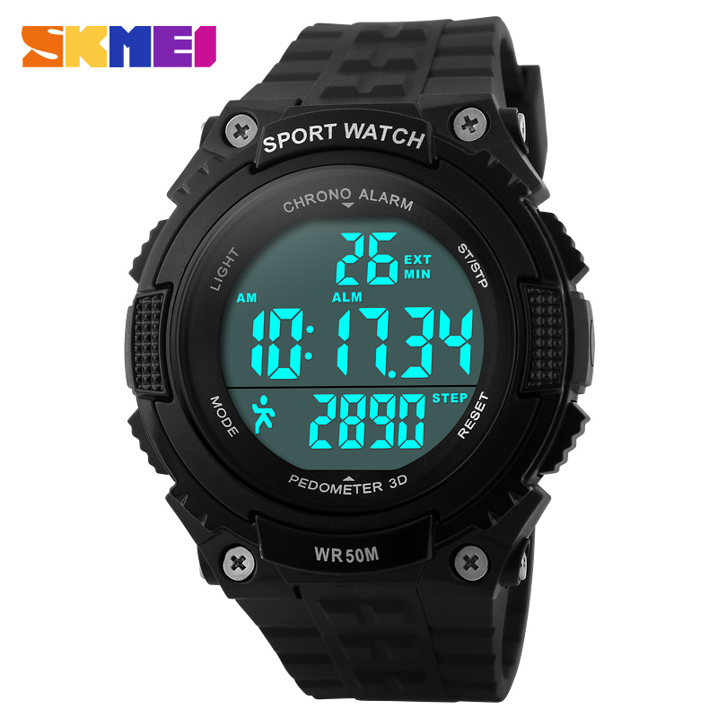 New Casual Women's Watch Fashion Pedometer Digital Fitness For Men Women Outdoor Wristwatches Skmei Sports Watches 2COLORS(China (Mainland))