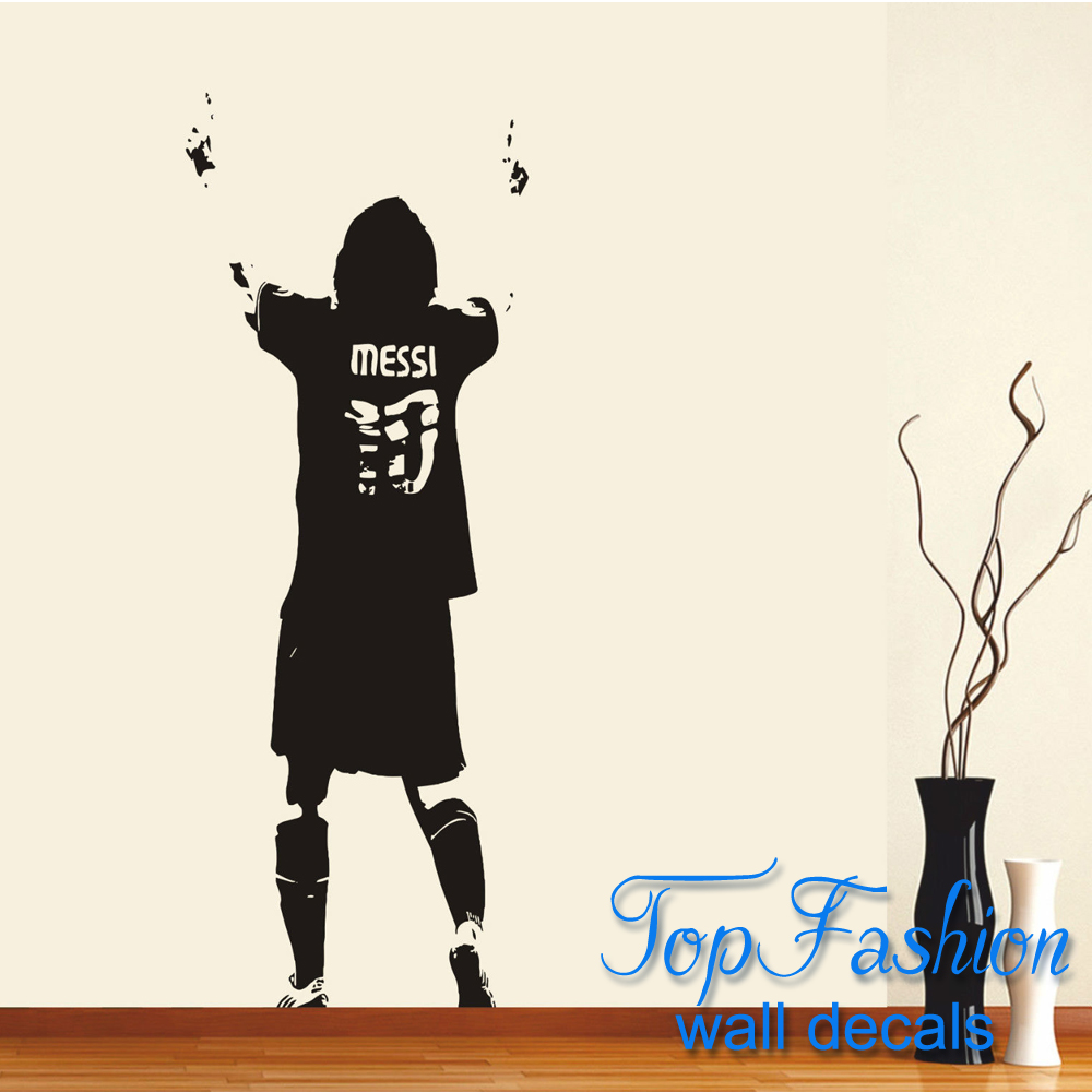 large lionel messi wall art sticker decal wallpaper soccer banksy rats vinyl wall art decal vinyl revolution pack