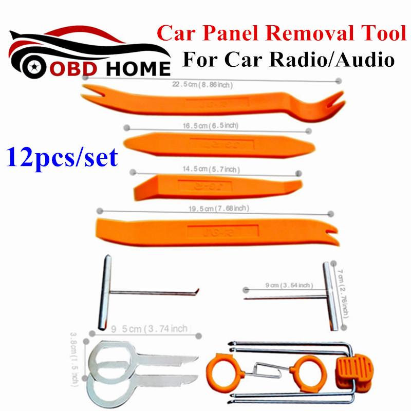 Car DVD Player Stereo Refit Tool Kit 12pcs/set Car Door Tools NO Interior Plastic Trim Panel Dashboard Installation Removal Pry(China (Mainland))