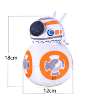 2015 new 7.8inch Star Wars BB-8 BB8 R2D2 Droid Robot Plush Doll Kids Toys for Children Christmas Gifts for kids