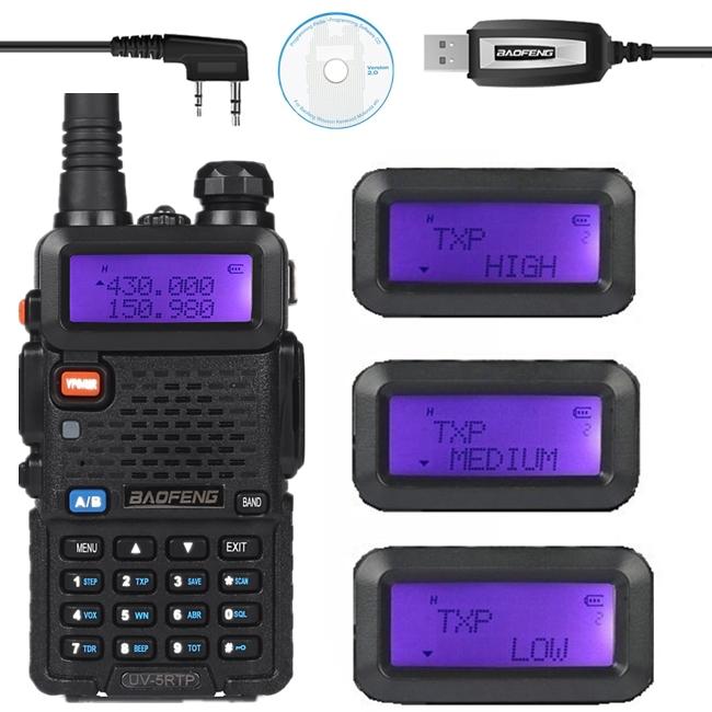 Baofeng UV-5R TP 136-174/400-520MHz Dual Band 2M/70cm FM High Power 8W Two Way Ham Radio Transceiver + Programming Cable UV-5RTP(China (Mainland))