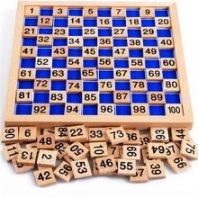 Деревянная доска монтессори математика игрушки монтессори материалы oyuncak детских развивающих игрушек цифровая доска счеты абакус счеты W078