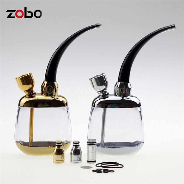 Zobo Cool Portable Mini Hookah Quality Water Smoking Pipe Shisha Bicirculation Filter Cigarette Holder W/ Gift Box&2 Color(China (Mainland))