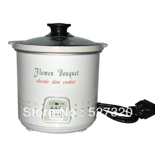 Baby porridge pot mini bb cooker baby ceramic 0.7 white electric slow - Smiling Angel store