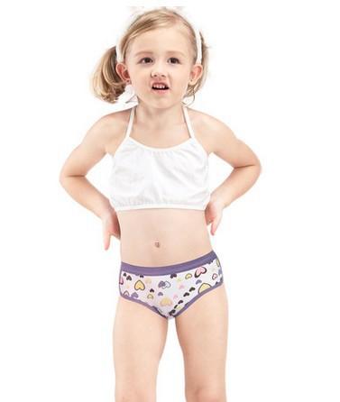 Girls Lycra cotton underwear baby kids cute love pants ...
