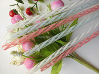 Retails and Wholesales Decorative Fancy Vintage Color transparent Striped Wedding Parties Straws Drinkware Bar Drink Accessories