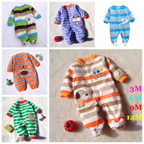 High Quality Fleece Body Baby Boy Romper Cartoon Kids Jumper Bebe Overall for Infants 2014 Fall Newborn Clothes Toddler Clothing(China (Mainland))