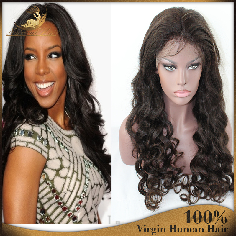 Bleached Knots Black #1b Brazilian Virgin Wavy Hair Glueless Full Lace Wigs/lace front wig With Baby Hair for Black Women<br><br>Aliexpress