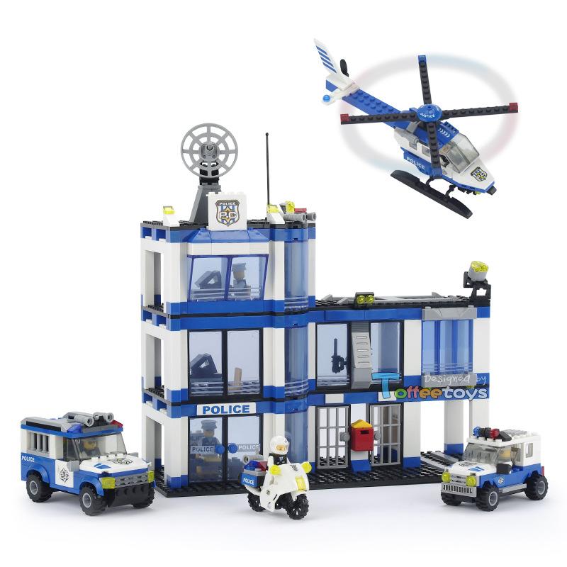 City Police 737pcs SWAT Emergency Center Building Blocks DIY Assemble Figure Construction Enlighten Bricks Toys Legoelieds <br><br>Aliexpress