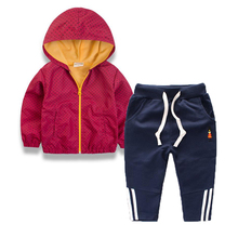 Buy kids clothes 2017 Spring Autumn new boys children cotton long sleeved hoodies jacket + trousers baby boy clothes tracksuit for $14.93 in AliExpress store