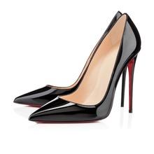100% reale pic così kate pompe 120mm super tacco sottile office lady scarpe donna patent leather inferiori rosse tacchi alti sapatos femininos(China (Mainland))