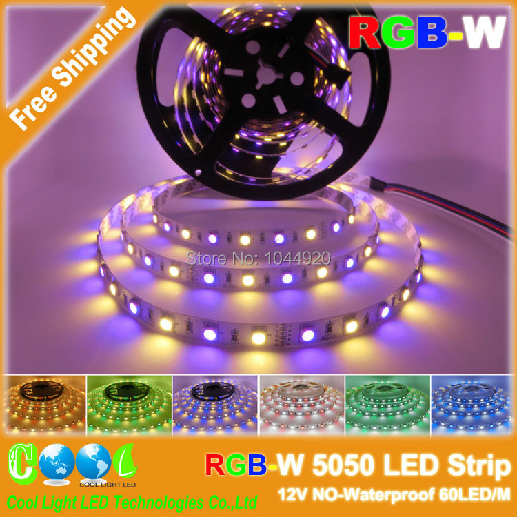 RGBW 5050 LED Strip,12V 60LED/M,RGB+White,RGB+Warm White,The Beautiful Color You Never Seen Before!(China (Mainland))