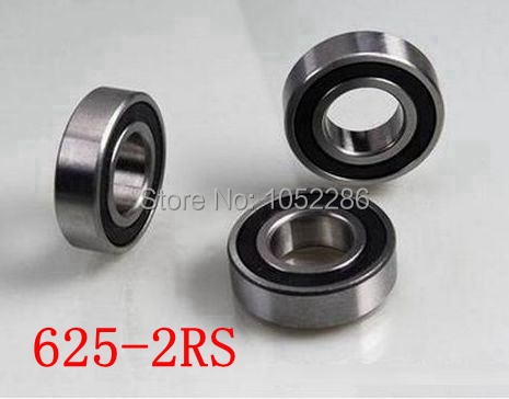 200pcs/lot 625-2RS miniature radial ball bearing 625 2RS 625RS rubber sealed deep groove ball bearings 5*16*5 mm(China (Mainland))