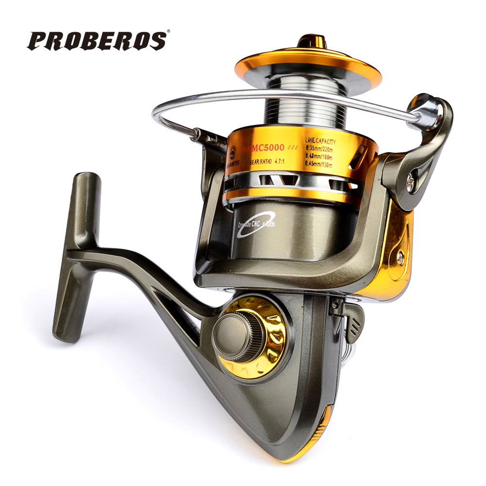 Proberos Full Metal Fishing Reel Ocean Boat Fishing Aluminum+Stainless Steel 4.8:1 Spinning Reel 13BB Japan imports MC1000-6000(Hong Kong)