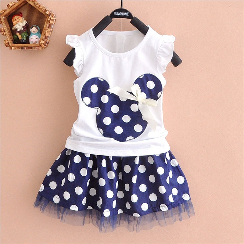 2016 Summer toddler girl kids clothes sets for girls children clothing outfit tops tutu skirt 2pcs sets brand casual sports suit(China (Mainland))
