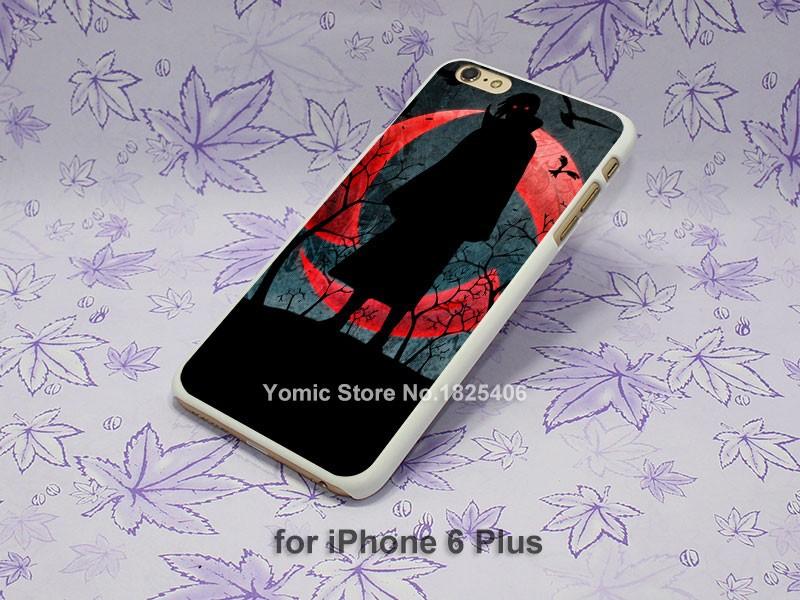 naruto Uchiha Itachi sharingan eye Pattern hard White Skin Case Cover for iPhone 4 4s 4g 5 5s 5c 6 6s 6 Plus
